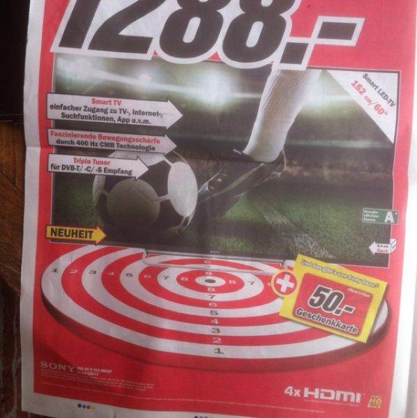 [Lokal Hannover] Sony KDL-60W605 1.288,-