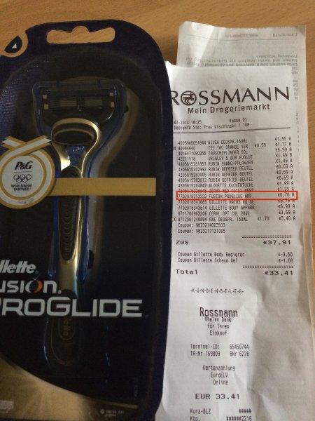 [Lokal Hannover] Gillette Fusion Proglide Preisfehler 0,70€