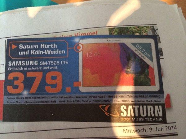 Samsung Tab Pro 10.1 LTE (SM-T525) [Lokal Saturn Hürth und Köln-Weiden] für 379,-