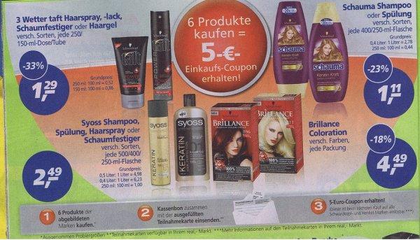 Real   ab  Montag den 14.07.    6 Produkte kaufen, Gutschein über 5€ erhalten