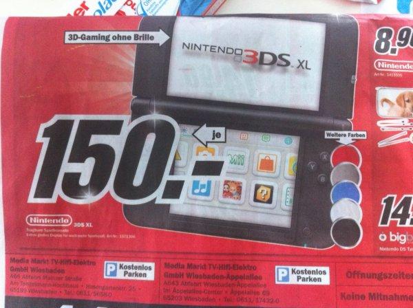 [LOKAL] Wiesbaden Media Markt Nintendo 3DS XL für 150€