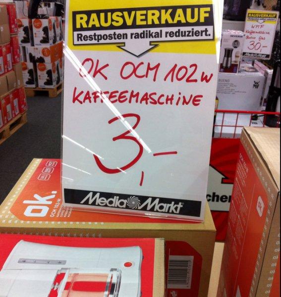 [Lokal Berlin-Spandau] OK OCM 102w Kaffeemaschine Media Markt