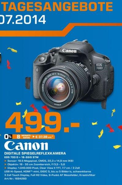 Canon EOS 700D Kit 18-55 mm [IS STM] für 499€,Sony KDL-55W805B für 1049€ TAGESANGEBOT 18.07-19.07 Lokal [Saturn Bergisch Gladbach]