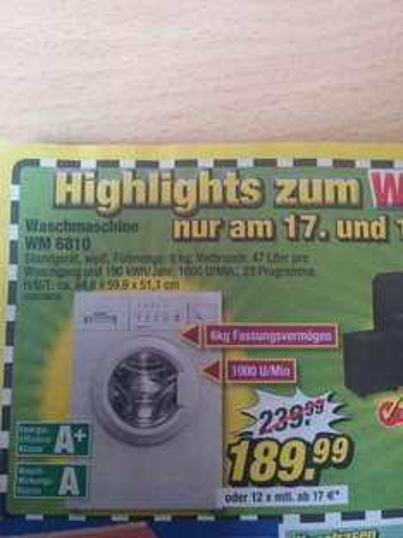 Waschmaschine Exquisit WM6810