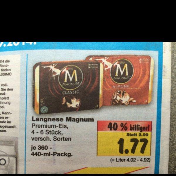4er Pack Magnum für 1,77€ @ Kaufland