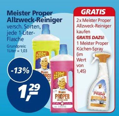 Ab Mo 14.07. bei real: 2x Mr Proper Reiniger und 1x Mr Proper Küchenspray für 1,58 statt 4,03