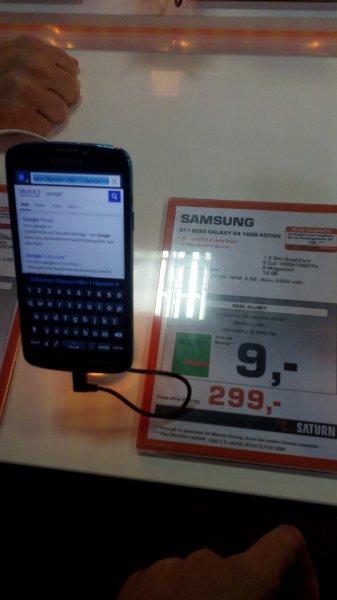 [Lokal Saturn Bremen] Samsung Galaxy S4 Active blue 299