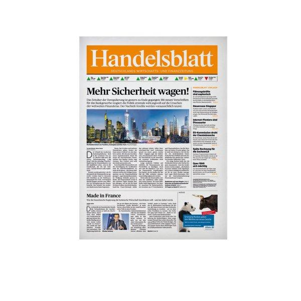 Handelsblatt 3 Monatsabo, kostenlos für 799 Webmiles/ Print Ausgabe / geringer Aufwand / selbstkündigend