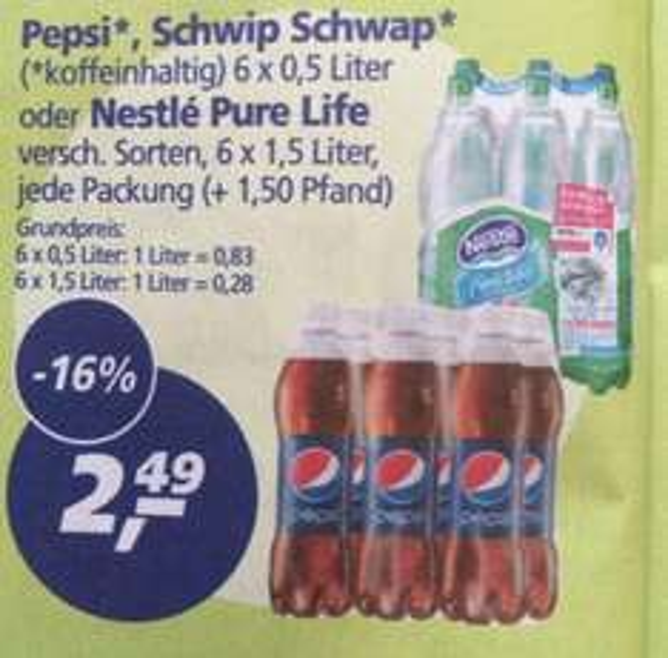 [real,-] Pepsi: 6x 1,5l für 2,49€
