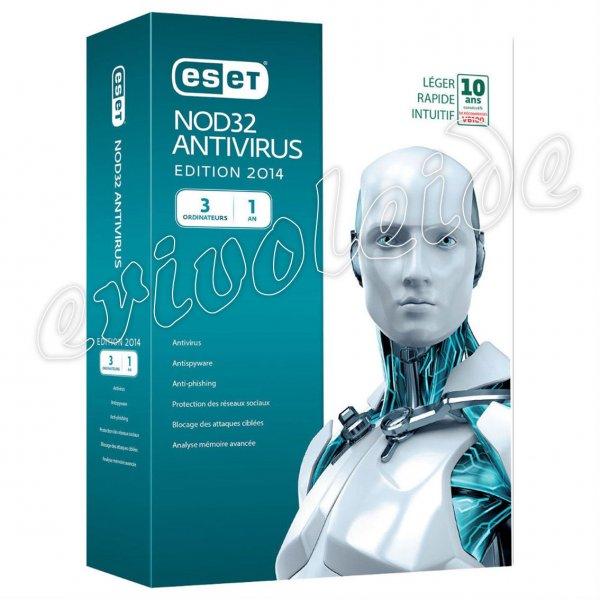 ESET NOD32 Antivirus 1 Jahres Lizenz 3 PC