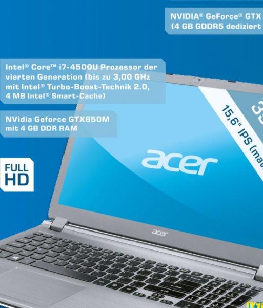 [Saturn] ACER Gamernotebook Acer Aspire V5-573G-74518G1Taii GTX 850