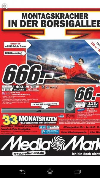 LG TV 55 LB 582 V Mediamarkt Frankfurt Borsigallee