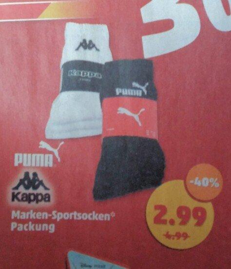 [Penny NRW] Puma und Kappa Sportsocken 3er-Pack
