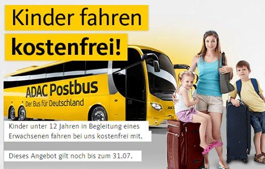 ADAC Postbus - Kinder fahren GRATIS in Begleitung