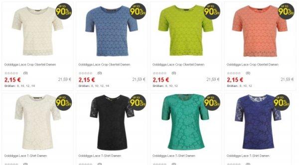90% off @Sportsdirect diverse Artikel z.B. Shirts, Tops, Leggins für Frauen ab 2,15