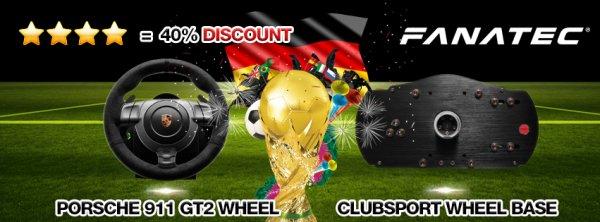 Fanatec Porsche & ClubSport Lenkrad 40% günstiger!