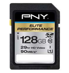 PNY 128GB Elite Performance SDXC Class 10 (90MB/s) für 67€ @Amazon.com