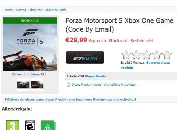 Forza Motorsport 5 (DLC) für 25,99€ (Xbox One)