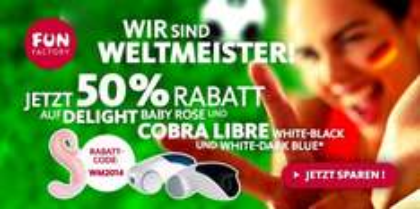 Funfactory Delight Baby Rose und Cobra Libre mit 50% Rabatt