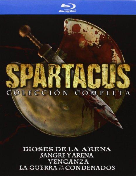 Spartacus Komplettbox (Bluray) 3 Staffeln + Prequel auf Amazon.es für 54,38 Euro
