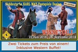 Karl May-Festspiele inkl. Western-Buffet fuer 41.50 statt 79