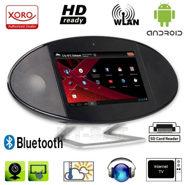 Xoro HMT 390 17,8 cm (7 Zoll) Internet-TV mit Radio (Rockchip Cortex A9, 1,0GHz, 512MB RAM, 4GB interner Speicher, WiFi, Bluetooth 2.1 mit EDR, HDMI, DLNA, Wetterstation, Android 4.1)  für 74,85 € @ Zackzack