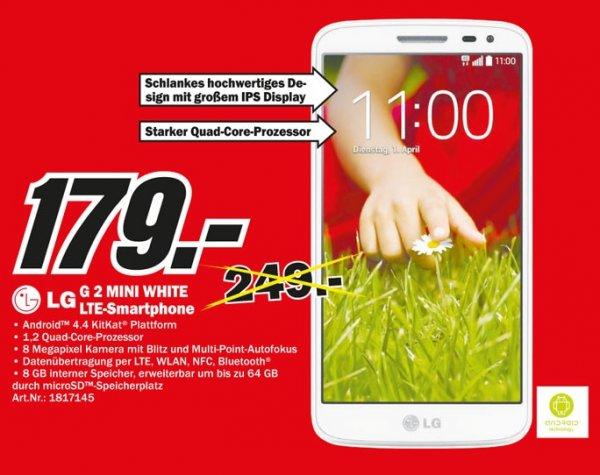 LG G2 Mini Weiß für 179€,LG 42LB561V für 349€,Samsung UE50H5570 für 555€ Lokal  [Mediamarkt Düsseldorf]
