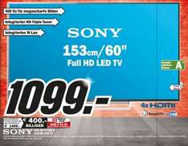 Sony KDL-60W605B für 1099€ Lokal [Mediamarkt  Duisburg Marxloh&Großenbaum]