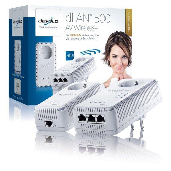 Devolo dLAN 500 AV Smart-Wireless+ (Starter Kit) für 99€ @ Comtech