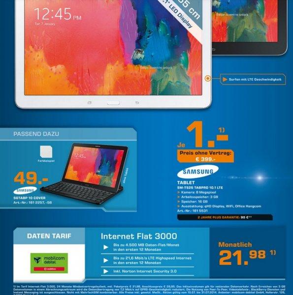 Samsung Galaxy Tab Pro T525 10.1 LTE bei Saturn Berlin/BRB für 399