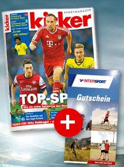 Kicker Jahresabo + 120€ InterSport Gutschein für zusammen 198€