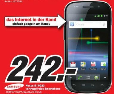 In Österreich bei MediaMarkt Nexus S (SLCD) für 242 Euro [offline]