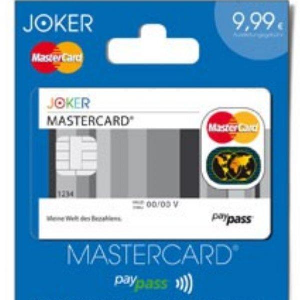 Gratis Prepaid MasterCard @jokerkartenwelt.de
