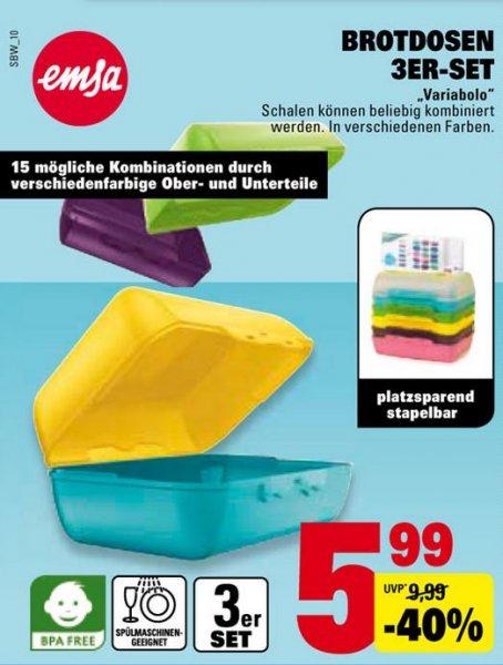 [Marktkauf - Rhein-Neckar] Emsa Variabolo Brotdosen 3 er Set für 5,99 Euro