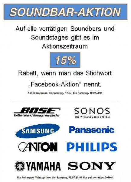 [Lokal/Offline] 15 % Rabatt auf Soundbars und Soundstages - Expert Ochtrup