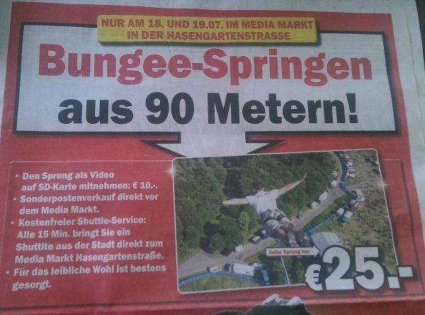 [lokal] - MM Wiesbaden -  Bungee-Springen aus 90 Metern!