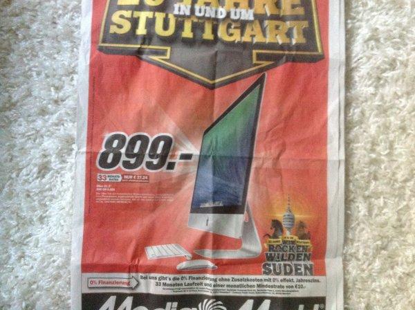 Media Markt Stuttgart - Apple iMac MF883D/A 54,6 cm (21,5 Zoll) i5