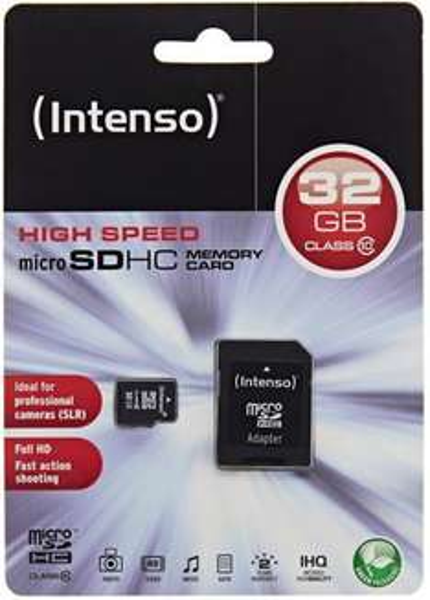 Intenso 32GB Micro SDHC Speicherkarte Class 10 Karte inklusive SDHC Card Adapter  @ebay 11,11