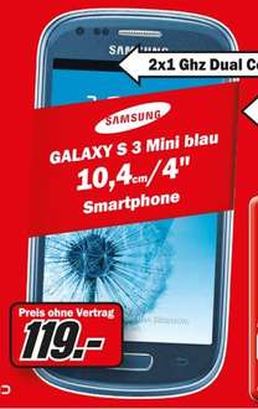 Samsung Galaxy S3 Mini für 119€ Lokal [Mediamarkt Neuwied]