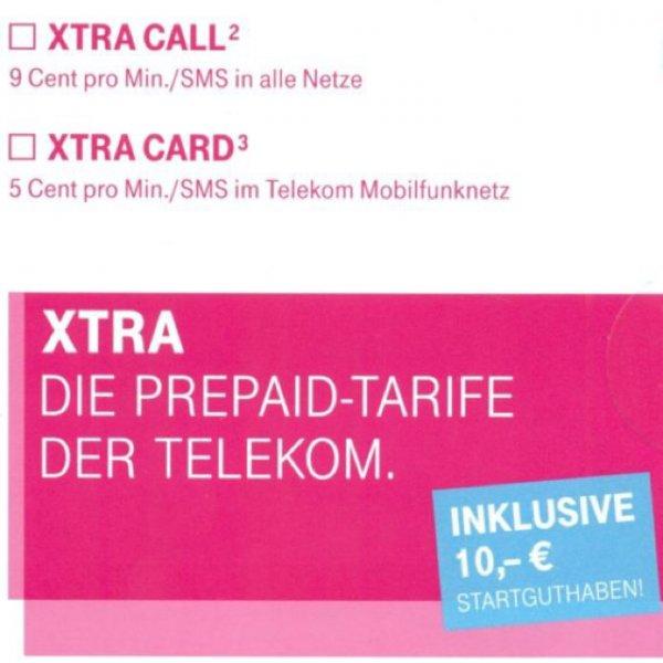 Wieder da: xtra-Card 10€ Guthaben eBay kostenloser Versand