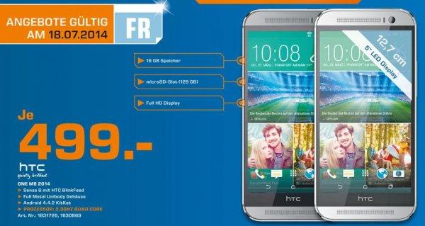 HTC ONE M8 499€ - Tagesangebot im Saturn Heidelberg - nur am 18.7.14 (lokal)