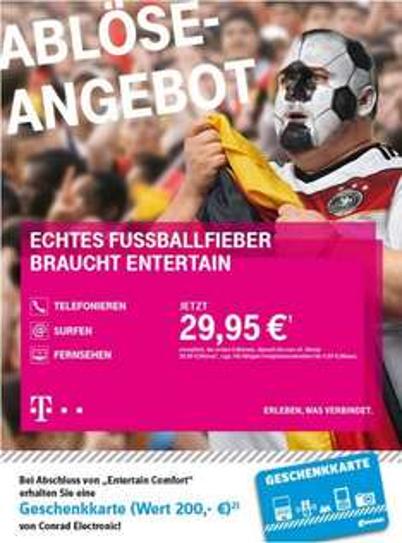 [Lokal Conrad Frankfurt - Bis Ende Juli] Telekom Entertain + 200€ Conrad Gutschein