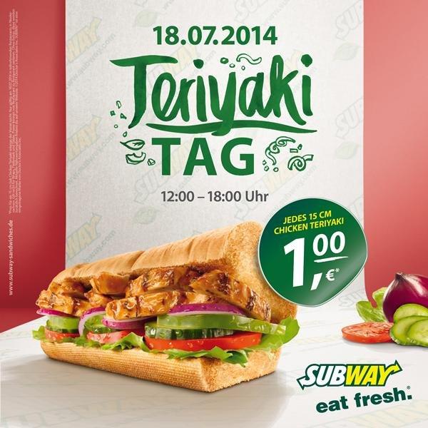 Chicken Teriyaki am Freitag für nur 1€