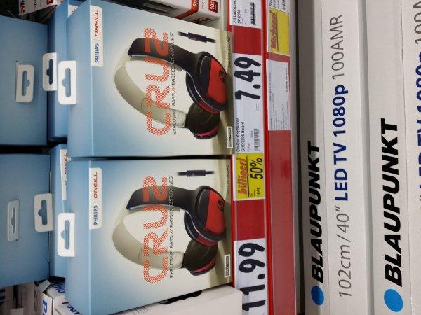 [Lokal ggf. bundesweit][Aschaffenburg][Kaufland] Philips O'Neill Cruz SHO3305 Kopfhörer mit Mikro & Fernbedienung auch für Android & iOS