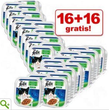 32 x 100 g Megapack Felix Schalen für 8,39€ inkl. Versand @zooplus.de