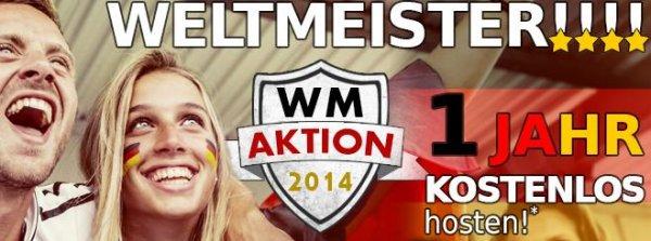 Webgo24 Hosting WM Aktion - 1 Jahr kostenlos