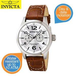 Invicta 0765 IForce Edelstahl - Lederband Herrenuhr für 59,95€ zzgl. 5,95€ Versand @iBOOD