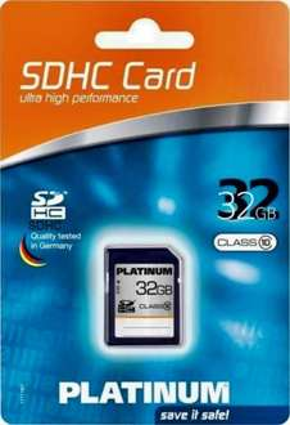 [PENNY LOKAL] Platinum 32 GB Class 6 SDHC Speicherkarte [7,99 Euro] 21.07.14