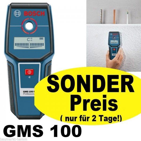 Bosch GMS 100 M Sonderpreis für 2 Tage! Ortungsgerät Multidetektor Metalldetektor Leitungssucher