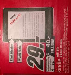 "[lokal Rostock Media-Markt] Kindle WiFi 6"" 29€"